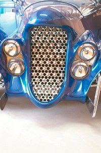 The Eclipse's unique grille includes a Ford grille mesh and Cadillac teeth.