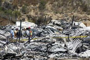 """This is all that's left of a condo unit that eco-terrorists burned in 2003. A banner left at the site of the fire read, """"If you build it, we will burn it,"""" and was signed, """"The E.L.F.s are mad."""""""