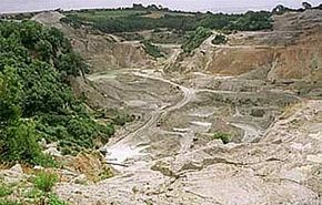 The site of the Eden Project, before construction began