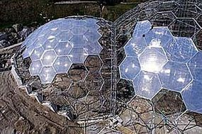 Putting all the pieces of the dome together, in April 2000