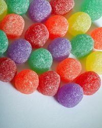 Gumdrops will add color and sparkle to your Christmas tree.