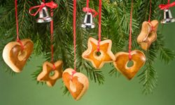 Holiday Baked Goods Image Gallery These gingerbread ornaments can go straight from the tree to your mouth. See more pictures of holiday baked goods.
