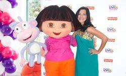 Dora and Telemundo's Candela Ferro attend the Dora The Explorer new fall toys showcase in Miami.
