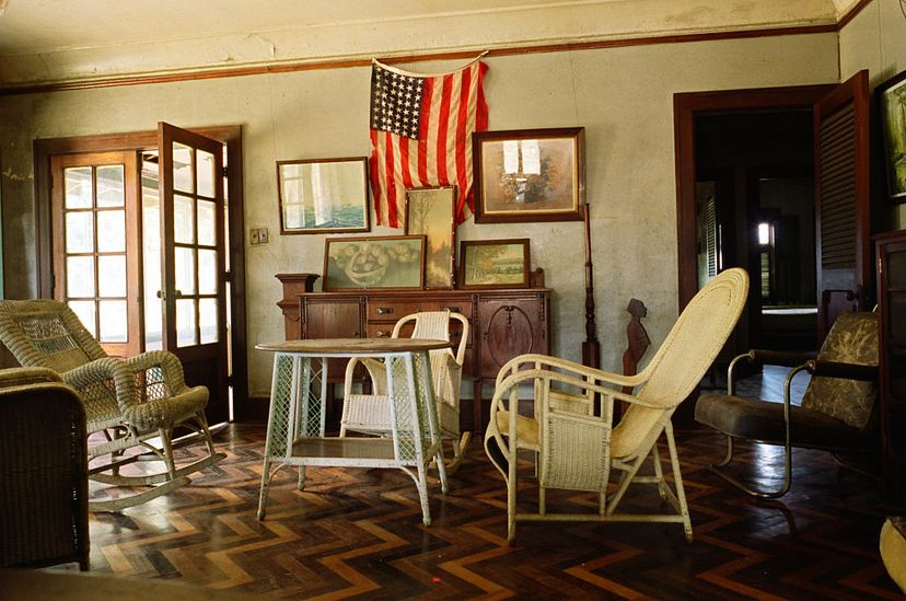 This photo shows the drawing room located in the museum in one of the former managers' homes in Fordlândia, Brazil. This was Henry Ford's failed experiment at creating a Midwestern-style company town in the Amazon. Colin McPherson/Corbis via Getty Images