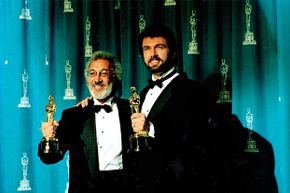 Stan Winston (left) and Jeff Dawn took home Oscars for their work in 'Terminator 2: Judgement Day' in 1992.