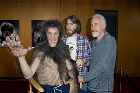 Make-up artist Rick Baker attends 'Universal's Legacy Of Horror' in 2012 and meets up with a younger version of himself working on 'An American Werewolf in London.'