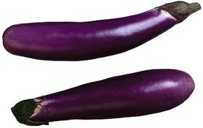 Eggplant is usually long and slender.
