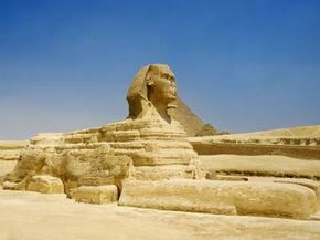 The Great Sphinx of Giza depicts the face of King Khafre.