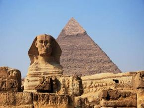 Egyptian Pyramid Image Gallery People have questioned whether the ancient Egyptians actually built the Sphinx and Great Pyramids.