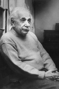 Albert Einstein, 13 months before his death. See more brain pictures.