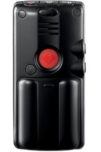 The back of the Clarity cell phone has a panic button.