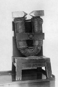 Michael Faraday's horseshoe-shaped electromagnet