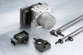 Brakes Image Gallery Electronic brake systems, like the Bosch ESP8 brake control system shown here, detect critical situations and help the driver to maintain full control over the vehicle. See more pictures of brakes.