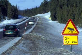 Driving on roads covered with ice -- or suddenly emerging elks -- are typical traffic risks in Northern Europe. Brake control systems such as ABS and the Electronic Stability Program (ESP) increase safety in these critical situations.