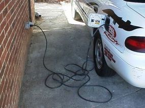 Plug the car in anywhere to recharge.