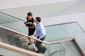 If you're just going up one floor, why not get some exercise (and goodwill) by walking up the stairs rather than taking the elevator.
