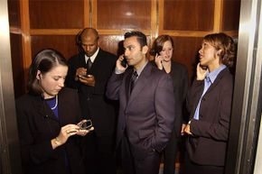 In an elevator, the correct place to stare is at your phone or the door, unless there's a TV screen inside.