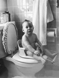 Today, most children start toilet training at around 18 months, but it used to beginmuch earlier.