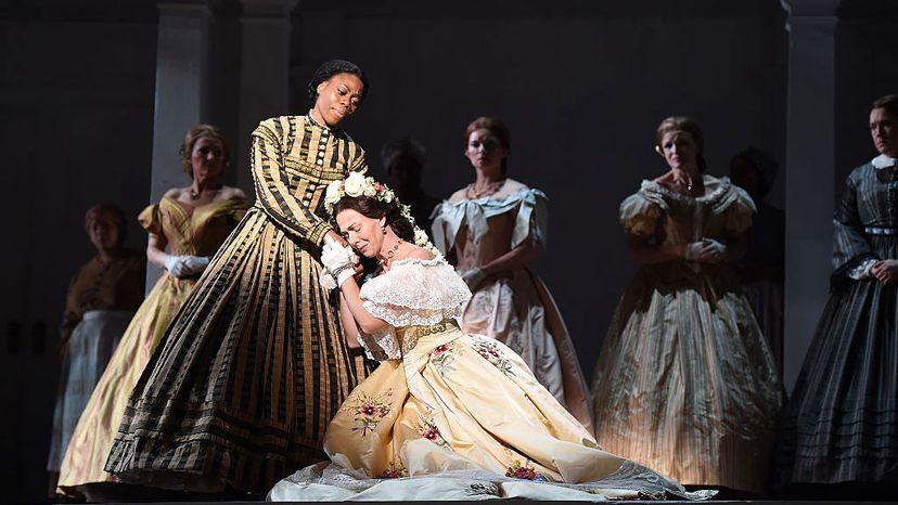 Chrystal E. Williams (as Elizabeth Keckly), left, and Anne-Carolyn Bird (Mary Todd Lincoln), Appomattox opera