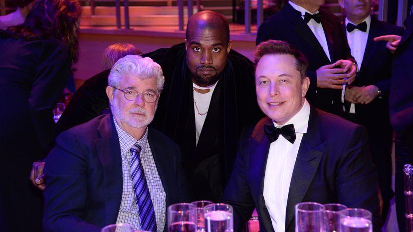 """乔治卢卡斯。Kanye West,Elon Musk""""border="""