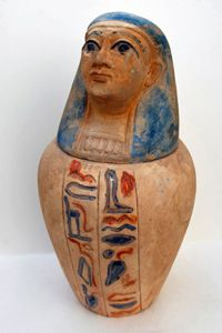 Ancient Egyptians used canopic jars to store vital organs during the embalming process.
