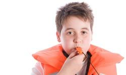 Arm each family member with a whistle and teach emergency codes before the trip.
