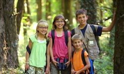 How do you keep your kids safe in the woods?