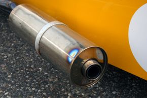 The exhaust on this canary-colored coolness seems just fine.