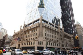 Hearst Tower, the first occupied green commercial building with LEED certification.