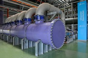 The NEWater plant in Singapore, pictured here, uses ultraviolet radiation to disinfect water.