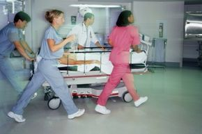 You better not get in the way of a bunch of emergency nurses in a hurry.