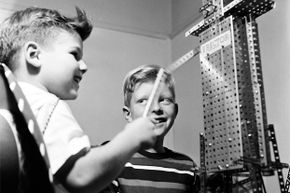 Dismayed by the focus on boys she saw in the marketing of traditional engineering toys (like the pictured Erector Set), Debbie Sterling founded Goldieblox to bring more girls into engineering.
