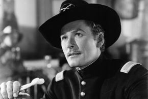 """Errol Flynn starred in the 1941 film """"They Died With Their Boots On""""; amateur actor Jack Budlong died during the filming."""