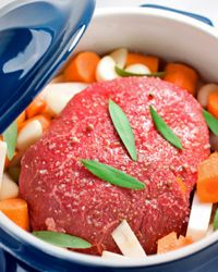 Look for meat with as little marbling as possible to avoid unnecessary fat.