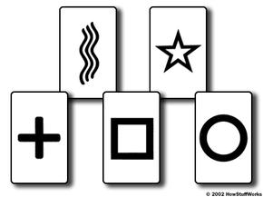 The standard Zener card designs