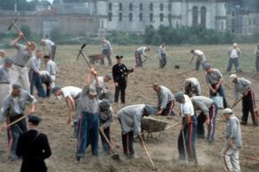 """The aerial shot of Shawshank Prison -- a character in its own right -- is a sweeping establishing shot that introduces viewers to the prison where most of """"The Shawshank Redemption"""" takes place."""