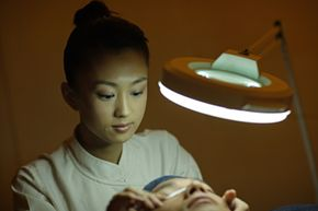 Getting Beautiful Skin Image Gallery Skin analysis is something you'll learn in esthetics school. See more pictures of getting beautiful skin.