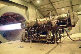 An Air Force maintenance squadron tests out a Pratt Whitney F100-PW-220e engine configured for the F-15.