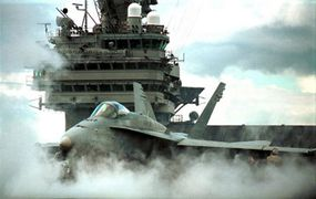 """When it was developed in 1976, the F/A-18 hornet became the first """"digital"""" combat fighter."""
