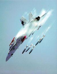 A Super Hornet attacks.