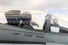 A Hornet pilot waits for take off.