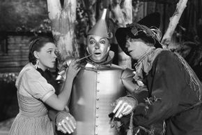 Getting oiled was the least of the original Tin Man actor Buddy Ebsen's worries. Jack Haley, pictured here, took the role after Ebsen was hospitalized by a reaction to his body paint.