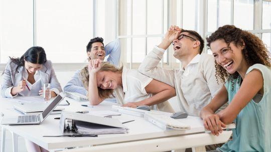 Does having fun at work make you look bad?