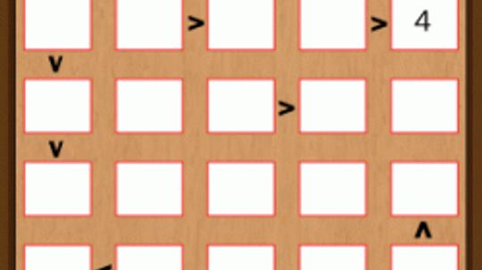 Solving a Futoshiki Puzzle