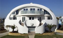 """Dubbed """"Dome of a Home,"""" this famous Monolithic dome home in Pensacola, Fla., has survived several hurricanes."""