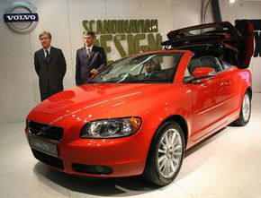 Today's luxury cars, like the 2009 Volvo C70, shown in New Delhi, India, in January 2008, boast features that will be found on most cars in the future.
