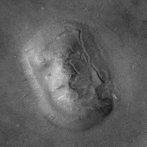 Later high-resolution images proved that the face was simply what NASA scientists had long suspected: a mesa.