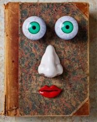 It's a face. On a book. Get it?