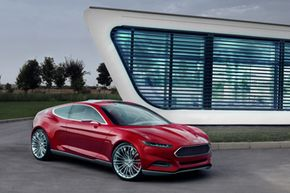 """The Ford Evos concept car, unveiled in 2011, integrated """"social"""" features into the driving experience. But what's the next step? See more Concept Car Pictures."""