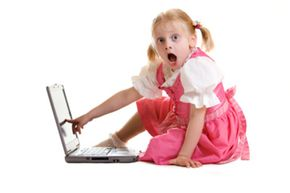 There's no telling what kind of objectionable material a child could encounter on Facebook. See more laptop pictures.
